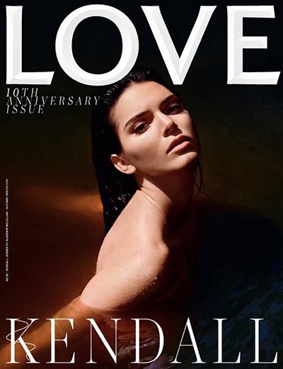Chân dài Kendall Jenner khỏa thân trên bìa tạp chí