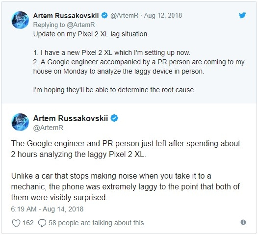 Pixel 2 XL bị lỗi nặng, Google chấp nhận thay mới ?