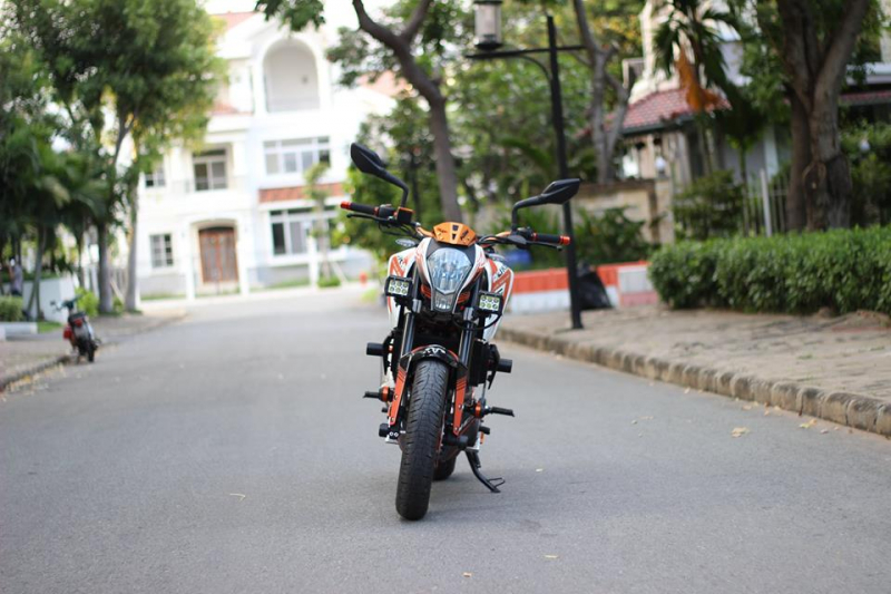 KTM 390 DUKE ABS độ Pô Akrapovic titanium