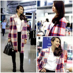 Sao Việt diện áo khoác ấm cuối mùa