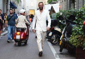Quý ông thời trang trên đường phố Milan, Paris lịch lãm