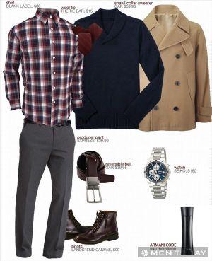 3 set đồ đa năng và phong cách cho chàng đón Giáng sinh