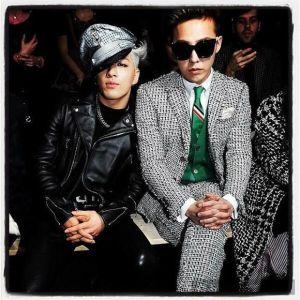 Phong cách cực chất của G-Dragon và Taeyang tại Paris