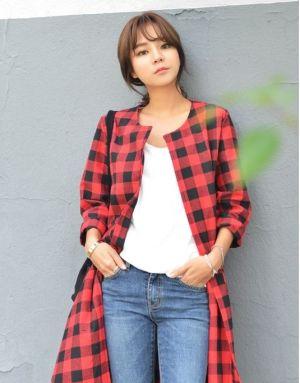 Áo khoác dạ ấm áp trẻ trung hợp phong cách Hàn