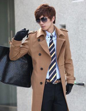 Áo khoác dạ nam dáng dài đẹp kiểu hàn quốc thanh lịch tự tin