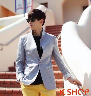 Áo khoác nam công sở phong cách Hàn Quốc giả vest bạn trẻ yêu thích
