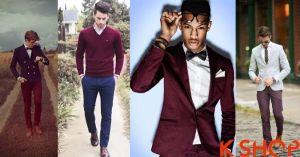 BST thời trang nam đẹp với sắc đỏ Burgundy