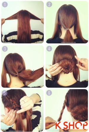 Cách búi tóc thấp đơn giản dễ làm tại nhà cho bạn gái