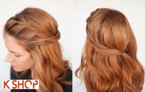 Cách tết tóc mái xoắn vặn dài cho bạn gái duyên dáng điệu đà