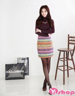 Chân váy đầm ngắn họa tiết đẹp hàn quốc xu hướng cá tính