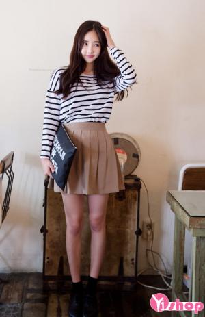 Chân váy đầm xòe xếp ly đẹp xu hướng thời trang hàn quốc