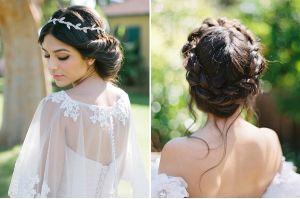 Kiểu tóc cưới búi thấp cho cô dâu xinh xắn