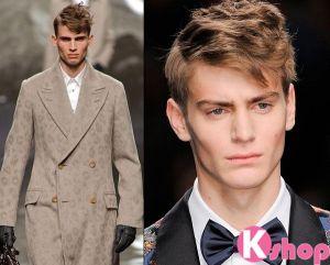 Kiểu tóc xoăn nam rối nhiều tầng đẹp cho chàng trai năng động tự tin