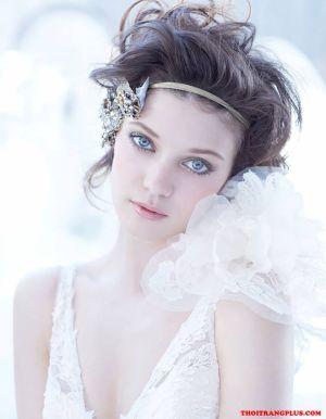 Những kiểu tóc cô dâu xinh xắn phù hợp từng khuôn mặt tự tin