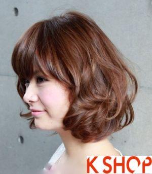 Những Kiểu tóc ngắn uốn xoăn ngang vai Hàn Quốc cho bạn gái