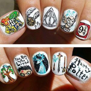 Nhũng mẫu móng tay nail ma thuật cho tín đồ Harry Potter