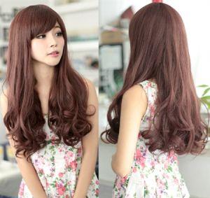 Tóc dài uốn đuôi đẹp cho nàng mặt tròn dễ thương tự tin