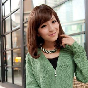 Tóc ngắn uốn cụp ngang vai kiểu Hàn Quốc cá tính độc đáo