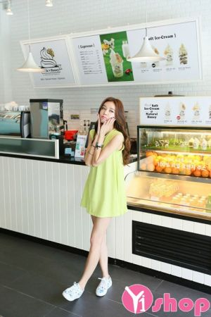 Váy đầm babydoll dáng xòe đẹp phong cách hàn quốc