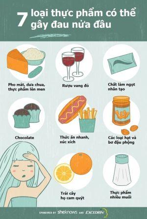 7 thực phẩm đừng bao giờ ăn nếu không muốn bị đau nửa đầu