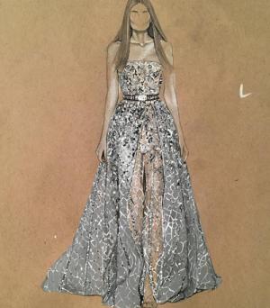 Những bộ váy tuyệt đẹp dù chỉ xuất hiện trên bản vẽ