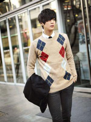 Áo len nam họa tiết cho chàng cá tính ấm áp