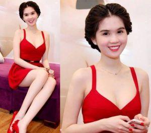 Váy đầm liền thân dài đẹp lộng lẫy với màu đỏ