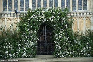 Choáng ngợp cổng hoa tươi trắng trị giá ngàn đô