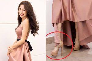 Mẹo ăn gian chiều cao với giày của Hòa Minzy