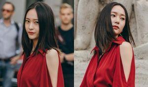 Tuần lễ thời trang Milan với váy đỏ rực