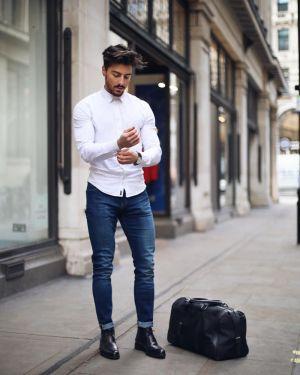 Vừa bảnh vừa chất với 7 cách phối đồ nam cùng quần jeans màu denim