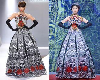 Girl Hà Anh diện lại váy từng khiến Ngọc Hân gặp sự cố sai sót