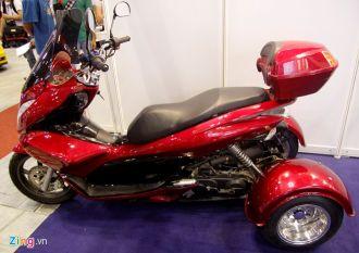 Xe máy Trung Quốc 3 bánh nhái Honda PCX tại Việt Nam