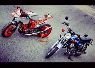 Lên đời Yamaha 2 thì thành KTM Duke cực kì độc đáo