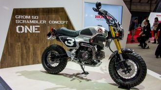 Vẻ ngoài đầy phong cách của Honda Grom 50 Scrambler