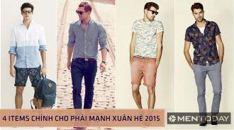 BST thời trang nam xuân hè 4 items cao cấp