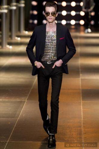 Phong cách thời trang nam đậm chất rock từ Saint Lauren