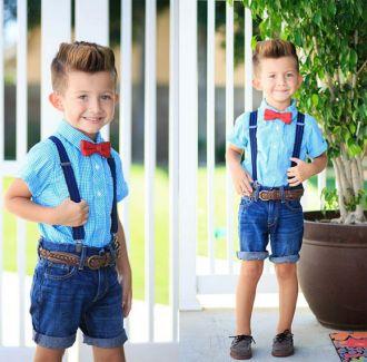 Style thời trang cực sành điệu của cậu bé 3 tuổi cá tính