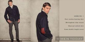 Những mẫu trang phục nam thu đông đơn giản và ấm áp