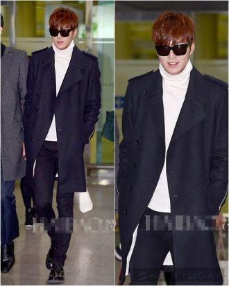 Phong cách thời trang sân bay cực chất của Lee Min Ho
