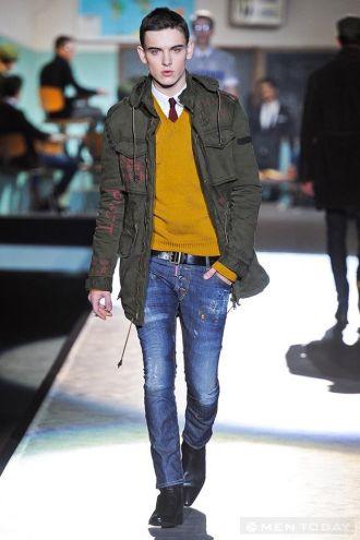 Thời trang DSQUARED 2: Điểm nhấn của jeans trong mùa đông giá lạnh