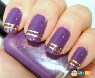 12 mẫu nail màu tím cho cô dâu lãng mạn quyến rũ