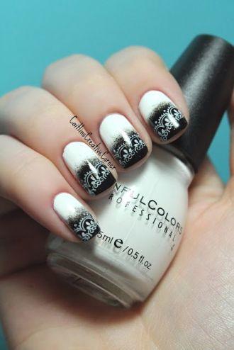 15 mẫu nail đen trắng giành cho bạn nữ trẻ trung