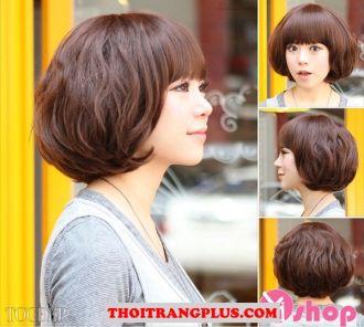 3 Kiểu tóc ngắn ngang vai Hàn Quốc cho nàng khuôn mặt dài