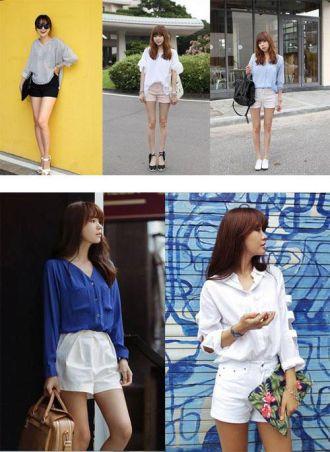 4 kiểu quần short trẻ trung năng động cho bạn gái