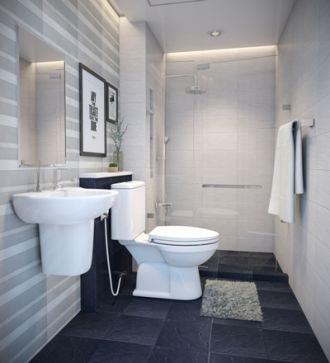 4 mẫu thiết kế đẹp cho nhà tắm rộng rãi