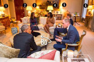 6 điểm thú vị trong phòng khách nhà Hoàng tử Anh