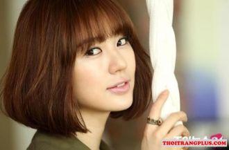 7 Kiểu tóc ngắn ngang vai uốn xoăn đẹp Hàn Quốc