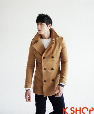 Áo khoác dạ nam măng tô Hàn Quốc đẹp không lạnh dạo phố cá tính