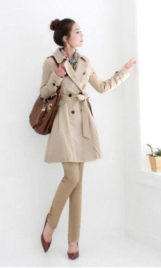 Áo khoác măng tô nữ dáng dài cho nàng ấm áp nơi công sở ngày lạnh
